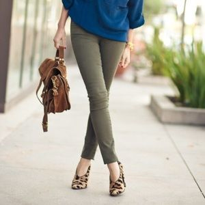 7 For All Mankind Olive Jeans